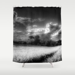 Monochrome Farm Shower Curtain
