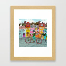 Bicycle and Balloons Framed Art Print