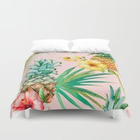 hawaii Duvet Covers featuring Hawaii by 83 Oranges™