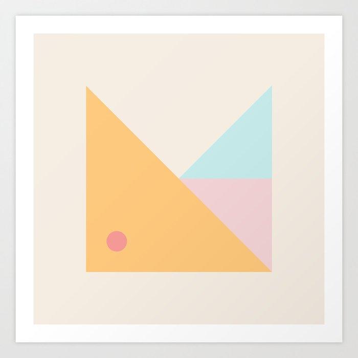 Modern Minimal Geometry Art Print