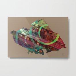 Shaped Bird Metal Print