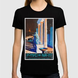 Pompei at Night - Vintage German Travel Ad T-shirt
