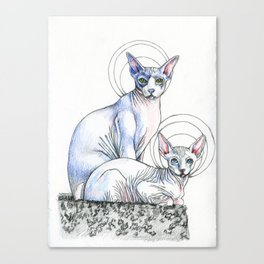 Angel Babies Canvas Print
