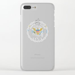 Virgin Itslands Its In My DNA Clear iPhone Case
