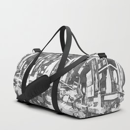 Times Square II (black & white pen and ink sketch) Duffle Bag