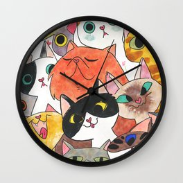 Gangster Colorful Cat Wall Clock