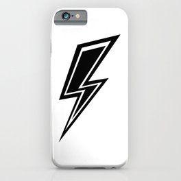 Lightning - Black and White iPhone Case