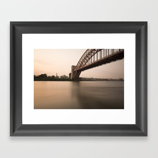 Hell Gate Bridge (NYC) at Sunset Framed Art Print