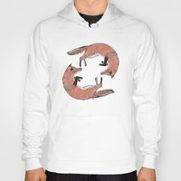 foxes Hoodies featuring Foxes by nicolaporter