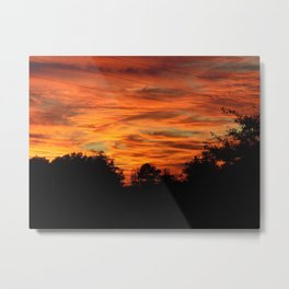 Dark Country Sunset Metal Print