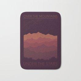Over The Mountains Bath Mat