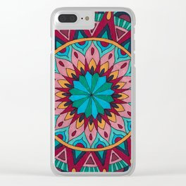 Heart and Soul Mandala Clear iPhone Case
