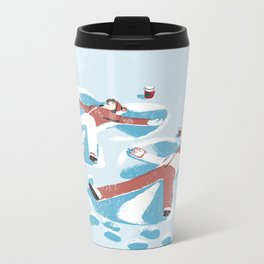 Snow Angels Metal Travel Mug