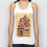 victorian Tank Tops featuring Victorian House by Syrupea