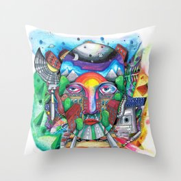 From F to K Throw Pillow