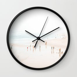 At the Beach (five) Wall Clock