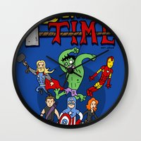 avenger Wall Clocks featuring Avenger Time by MattHercock