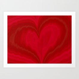 Valentine's Day Red Heart Pattern Art Print