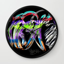 Colour Rush Wall Clock