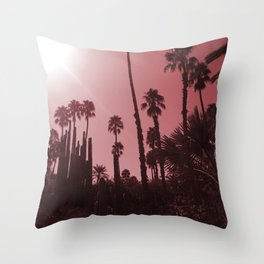 Palms in RED Throw Pillow