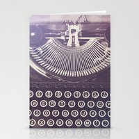 typewriter Stationery Cards featuring Typewriter by Jessica Torres Photography
