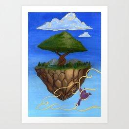 Eden Rises Art Print