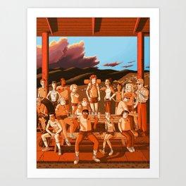 Camp Redblood Summer of '85 Crew Art Print