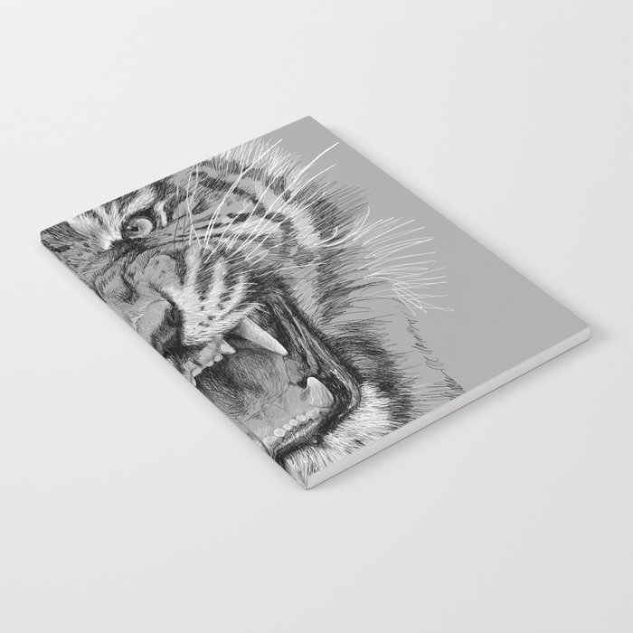 Tiger Portrait Animal Design Notebook