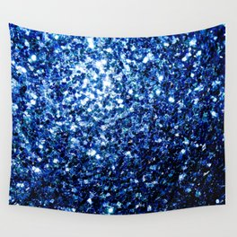 Beautiful Dark Blue glitter sparkles Wall Tapestry