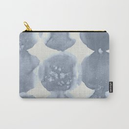 Shibori Wabi Sabi Indigo Blue on Lunar Gray Carry-All Pouch