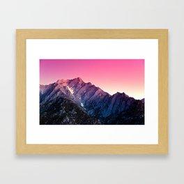 Pink Cold Framed Art Print