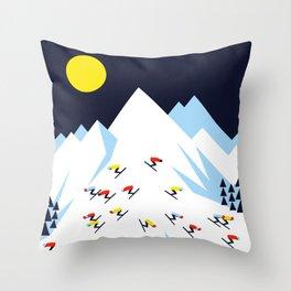 THE MOUNTAINS. NIGHT. Throw Pillow