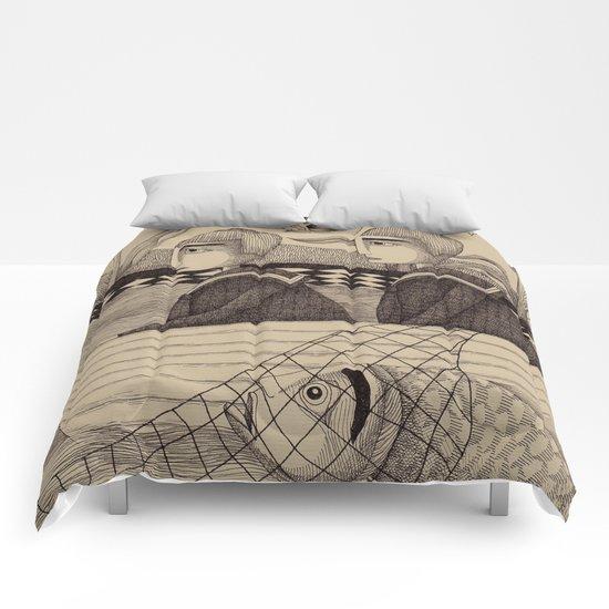 The Golden Fish (2) Comforters