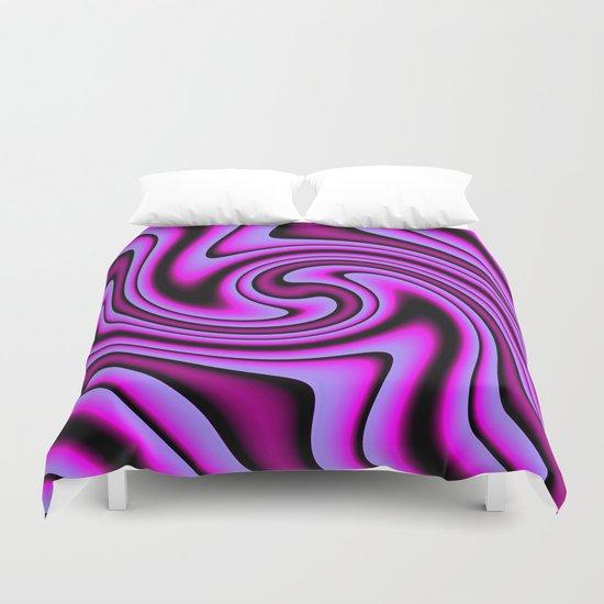 Cosmic Purple Twirls Duvet Cover