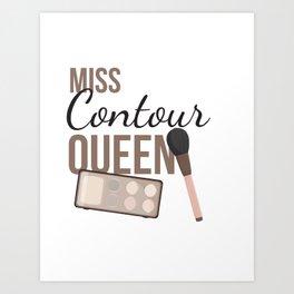 Contour Queen Art Print