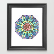 Octagonal mandala Framed Art Print