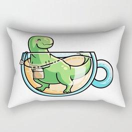 Kawaii Cute Tea-Rex Pun Rectangular Pillow