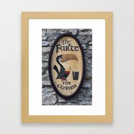 Wooden Guinness Sign Framed Art Print