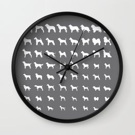 All Dogs (Grey/White) Wall Clock