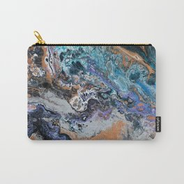 Molten Time (flow art on canvas) Carry-All Pouch
