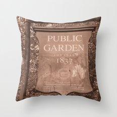 Public Garden Throw Pillow