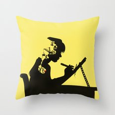 Quarry to be Mined Throw Pillow