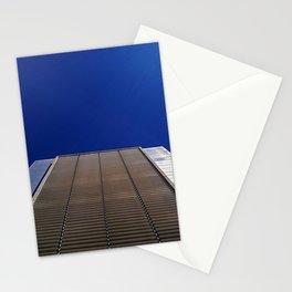 modern minimalist building against blue sky Stationery Cards