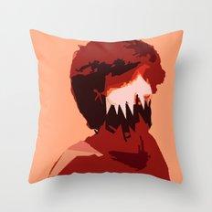 Adam Monster Face Throw Pillow