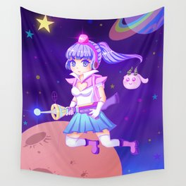 Space Girl Wall Tapestry
