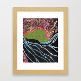Black Hair Lady Framed Art Print