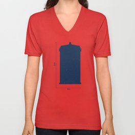 Tardis, Space and Time Unisex V-Neck