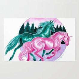 Winter Unicorns Rug