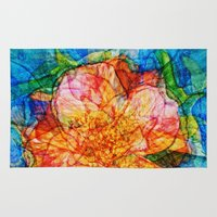 quibe Area & Throw Rugs featuring Flower III by Magdalena Hristova