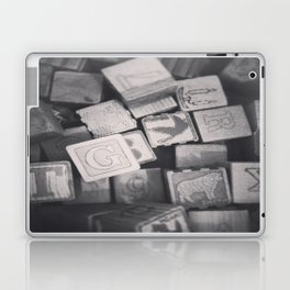 Vintage Wooden Blocks Laptop & iPad Skin